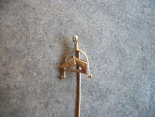 vintage Victorian 14k gold Horse Racing Jockey articulated stick pin