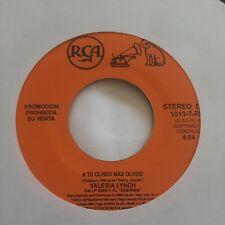Valeria Lynch A Tu Olvido Mas Olvido RCA VG+ 45RPM #1984