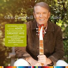 GLEN CAMPBELL ADIOS + GREATEST HITS 2 CD - NEW RELEASE JUNE 2017
