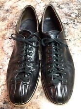 Hyde Men's 13.5 E Black Leather Bowling Shoes Classic Vintage