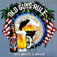 OLD GUYS RULE Red White & Brew X-Large Tee Shirt