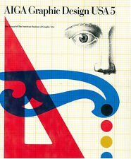AIGA GRAPHIC DESIGN USA 5 WATSON GUPTILL 1984 ANNUAL AMERICAN INSTITUTE GRAPHIC