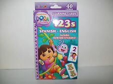 Dora The Explorer 123s Learning Flash Cards New Spanish and English Preschool
