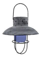 "Zeckos 9"" Hanging Distressed Gray Solar Lantern"
