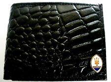 Maserati Men's Black Leather Alligator Bifold Wallet