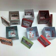 New 6/Lot Party Supply Lindy Bowman Mini Gift Box Christmas Holiday Santa Trees