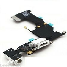 CONNETTORE CARICA DOCK MICROFONO RICARICA AUDIO FLEX PER APPLE IPHONE 5S BIANCO