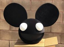 Deadmau5 Head All Black With White Eyes Led Lights With Control