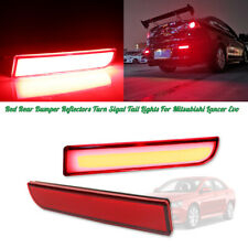 For Mitsubishi Lancer Evo Red Lens Rear Tail LED w/Sequential Turn Signal Lights