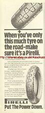 "Pirelli ""Put The Power Down"" Tyre 1981 Magazine Advert #2471"