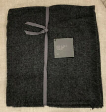 RESTORATION HARDWARES SURI ALPACA EYELASH THROW BY ALICIA ADAMS Dark Grey $269