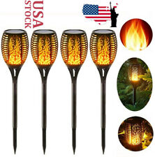 4x Solar Lights Flickering Flame Torch Outdoor Landscape 96LED Lamp Waterproof