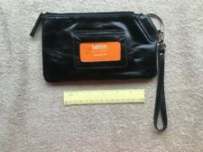 Ladies Wrist Purse LATICO Black Leather Wristlet Hand Bag Clutch NWT Ships Free!