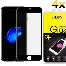 4x For iPhone7 Plus /iPhone 7 Plus 3D Full Cover Tempered Glass Screen Protector