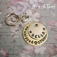 Small handmade stamped pet puppy kitten dog cat horse bridle ID tags PoshTags