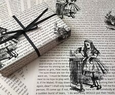 6 x SHEETS OF LITERATURE WRAPPING PAPER IN CREAM A3 SIZE - ALICE IN WONDERLAND