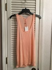 NWT BELLA LUXX Los Angeles Size M Medium Cut Out Cross-over Tank Top Peach