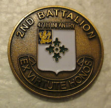 U.S. Army 2nd Battalion 47th Infantry Ex Virtute Honos Raiders Challenge Coin