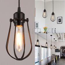 Rétro Vintage LED Lampe Suspension Plafonnier Luminaire Éclairage Cages de Fer