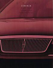 1993 LINCOLN Brochure / Catalog: CONTINENTAL, MARK 8 VIII, TOWN CAR, '93