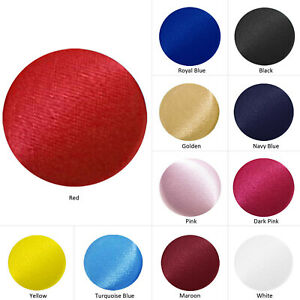 2 cm Round Buttons Satin Fabric Covered Handmade for Sewing Craft Art Decro