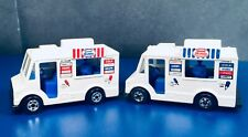 VINTAGE 1983 HOT WHEELS ICE CREAM TRUCKS 2 TYPES TOGETHER  RED/WHITE & BLUE/WH.