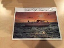 Chris Craft 1970s Boat Brochure - Commander / Constellation / Roamer - Vintage