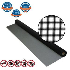 1.2m width ROLL INSECT FLYWIRE WINDOW FLY SCREEN NET MESH FLYSCREE VARIES LENGTH