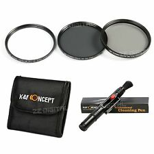 55mm UV CPL ND4 Filter Kit Cleaning Pen For Sony A200 Alpha Camera K&F Concept