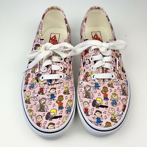 VANS Peanuts Shoes 2 Dance Party Pink Snoopy Charlie Brown Christmas Lace-up