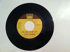 CLASSIC SOUL - STEVIE WONDER - FOR ONCE IN MY LIFE - 45 RPM - (ORIGINAL)  VG+++