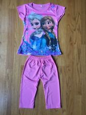 FROZEN Elsa & Anna Girls Pink 2 Piece Pajamas ~ Sz 2T - New Without Tags