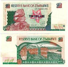 Zimbabwe $10 P#6a (1997) Reserve Bank of Zimbabwe XF