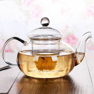 600mL Heat Resistant Glass Teapot Infuser Infusing Tea / Coffee Pot