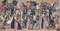 "Waverly Lined Floral/Stripe Rod Pocket Valance ~ Multi ~ 18"" L x 76"" W"