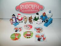 Rudolph the Red Nosed Reindeer Figure Set of 12 with Bonus Holiday Stickers