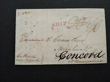 South Carolina: Charleston 1826 Stampless Forwarded Cover, Red SHIP to NH