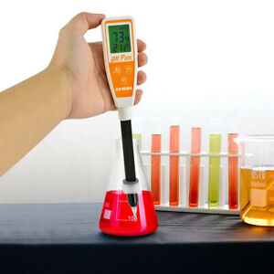 Alkaline Acid pH Value Meter Cosmetic Drinking Water Quality Testing ATC Monitor