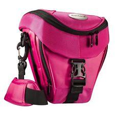 BAXXTAR Mantona Colt SLR Kameratasche pink mit Staubschutz & Tragegurt