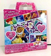 NEW Disney PRINCESS Repositionable STICKERS with FOLD-UP SCENE Activity Kit Set
