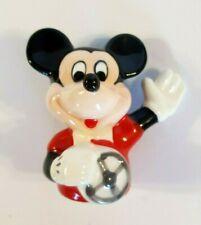 "Vintage Disney Mickey Mouse Salt & Pepper Shaker, 3"" Porcelain, Driving Mickey"