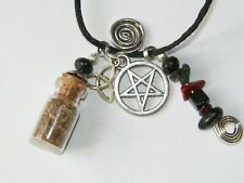 Protection Charm Bottle Necklace Talisman Amulet Warding Religious Ritual Supply