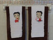 BETTY BOOP BATH FACE TOWELS 2 PC SET 100% COTTON