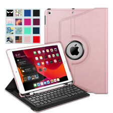 360 Degree Rotating Keyboard Case with Pencil Holder for iPad 8th Gen 10.2