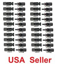 20 pairs M/F MC4 Male Female 30A Wire Cable Connector Set Solar Panel USA Seller