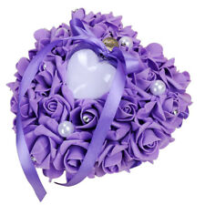 Muti color Satin Flower Girl Wedding Ring Bearer Cushion Pillow Lace Floral