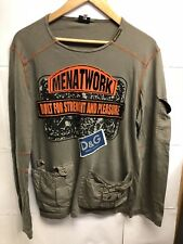 PRE -OWNED DOLCE & GABBANA MEN'S LONG SLEEVE T-SHIRT , SIZE S