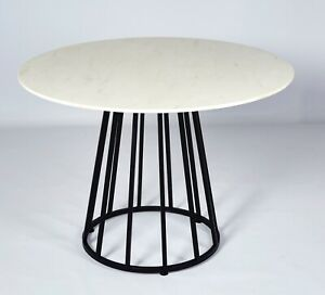 Marble & Metal Round Dining Table! Luxury design for cheap! Ex Display.