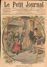 Voeux du Nouvel An Compliment grand-père Ferme Comtoise France 1908 ILLUSTRATION