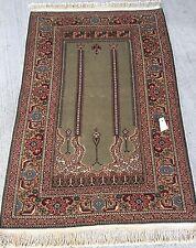 Tapis Turc noué fait main vert teppich tappeto rugs alfombra carpet 130x90
